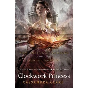 Cover of Clockwork Princess, my own pic to follow soon.